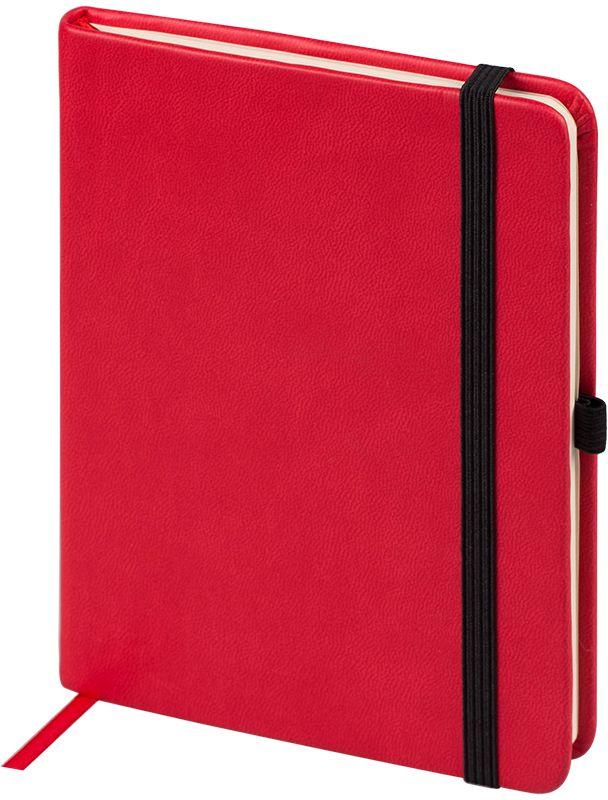 OfficeSpace Ежедневник Classic Velvet недатированный 96 листов в линейку цвет красный формат A6En6v_12897Ежедневник недатированный формата А6 из коллекции OfficeSpace Classic Velvet. Обложка изготовлена из высококачественного кожзаменителя с мягким гладким матовым покрытием. Подходит для всех видов полиграфического тиснения. Внутренний блок состоит из 96 листов тонированной офсетной бумаги плотностью 70 г/м2, печать блока в 2 краски, справочный материал. Вертикальная фиксирующая резинка на обложке. На заднем форзаце размещен удобный карман для визиток и документов. Удобная закладка-ляссе.
