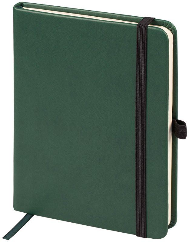 OfficeSpace Ежедневник Classic Velvet недатированный 96 листов в линейку цвет зеленый формат A6En6v_12901Ежедневник недатированный формата А6 из коллекции OfficeSpace Classic Velvet. Обложка изготовлена из высококачественного кожзаменителя с мягким гладким матовым покрытием. Подходит для всех видов полиграфического тиснения. Внутренний блок состоит из 96 листов тонированной офсетной бумаги плотностью 70 г/м2, печать блока в 2 краски, справочный материал. Вертикальная фиксирующая резинка на обложке. На заднем форзаце размещен удобный карман для визиток и документов. Удобная закладка-ляссе.