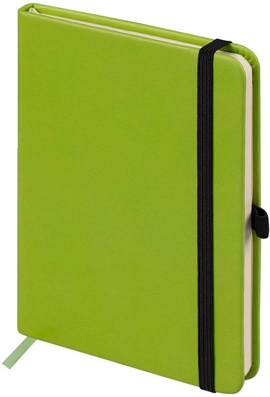 OfficeSpace Ежедневник Classic Velvet недатированный 96 листов в линейку цвет салатовый формат A6En6v_12903Ежедневник недатированный формата А6 из коллекции Classic Velvet. Обложка изготовлена из высококачественного кожзаменителя с мягким гладким матовым покрытием, цвет обложки - салатовый. Подходит для всех видов полиграфического тиснения. Внутренний блок состоит из 96 листов тонированной офсетной бумаги плотностью 70 г/м2, печать блока в 2 краски, справочный материал. Вертикальная фиксирующая резинка на обложке. На заднем форзаце размещен удобный карман для визиток и документов. Удобная закладка-ляссе.