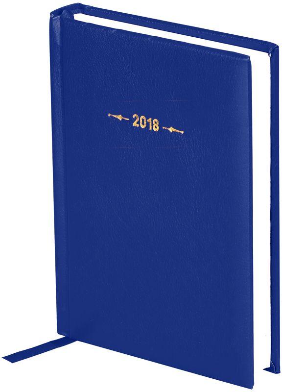 OfficeSpace Ежедневник Derby 2018 датированный 176 листов в линейку цвет синий формат A6Ed6_12491Ежедневник датированный формата А6 из коллекции Derby. Обложка изготовлена из высококачественного переплетного материала с поролоновой прослойкой, цвет обложки - синий. Подходит для всех видов полиграфического тиснения. Внутренний блок состоит из 176 листов офсетной бумаги плотностью 70 г/м2, печать блока в 2 краски, справочный материал. На форзацах географические карты России и Мира. Удобная закладка-ляссе и перфорированные уголки.