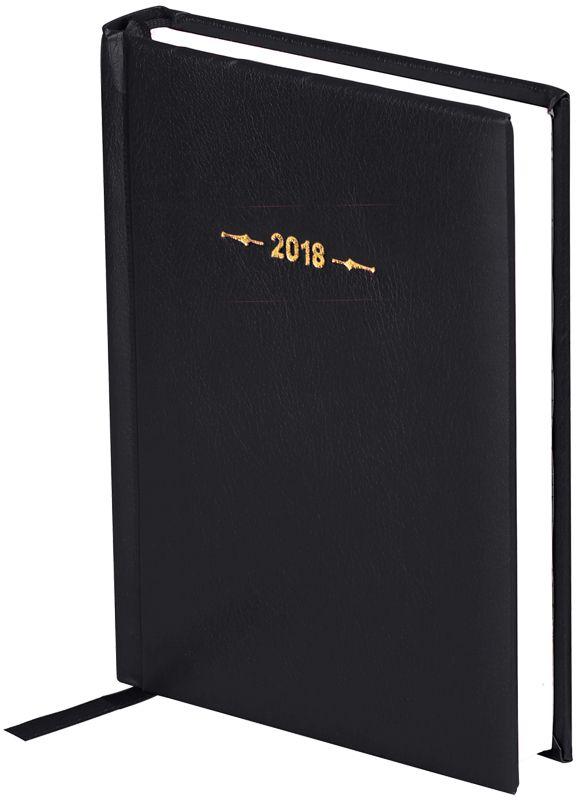 OfficeSpace Ежедневник 2018 Derby датированный 176 листов цвет черный формат A6Ed6_12493Датированный ежедневник OfficeSpace Derby имеет обложку, изготовленную из высококачественного переплетного материала с поролоновой прослойкой, цвет обложки - черный. Подходит для всех видов полиграфического тиснения. Внутренний блок состоит из 176 листов офсетной бумаги плотностью 70 г/м2, печать блока в 2 краски, справочный материал. На форзацах географические карты России и Мира. Удобная закладка-ляссе и перфорированные уголки.Формат A6.