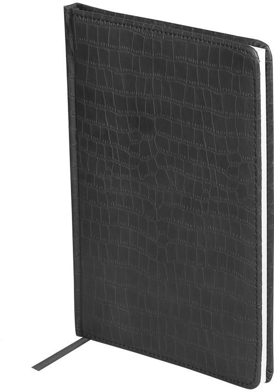 OfficeSpace Ежедневник Croco 2018 датированный 176 листов в линейку цвет черный формат A5Ed5_12529Ежедневник датированный формата А5 из коллекции Croco. Обложка изготовлена из высококачественного кожзаменителя, имитирующего полуматовую крокодиловую кожу, с поролоновой прослойкой, цвет обложки - черный. Подходит для всех видов полиграфического тиснения. Внутренний блок состоит из 176 листов офсетной бумаги плотностью 70 г/м2, печать блока в 2 краски, справочный материал. На форзацах географические карты России и Мира. Удобная закладка-ляссе и перфорированные уголки.