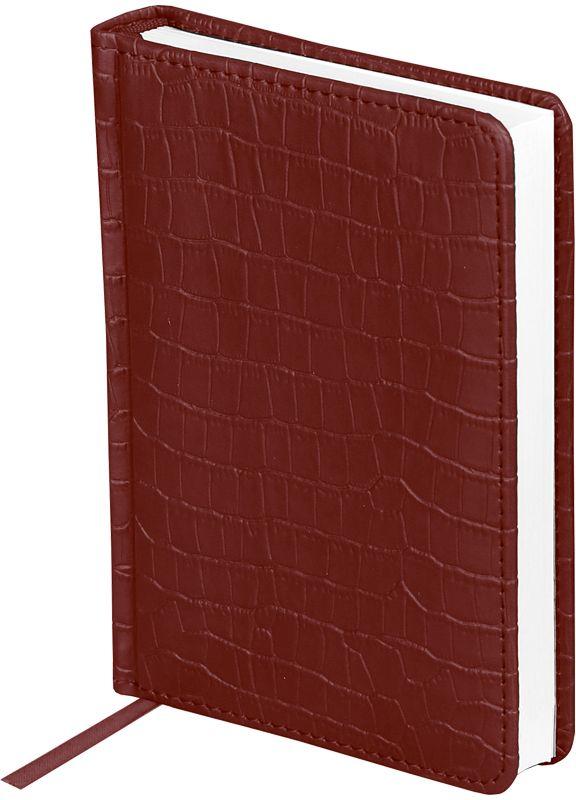 OfficeSpace Ежедневник 2018 Croco датированный 176 листов цвет бордовый формат A6Ed6_12543Датированный ежедневник OfficeSpace Croco имеет обложку, изготовленную из высококачественного кожзаменителя, имитирующего полуматовую крокодиловую кожу, с поролоновой прослойкой, цвет обложки - черный. Подходит для всех видов полиграфического тиснения. Внутренний блок состоит из 176 листов офсетной бумаги в линейку, плотностью 70 г/м2, печать блока в 2 краски, справочный материал. На форзацах географические карты России и Мира. Удобная закладка-ляссе и перфорированные уголки.Формат A6.