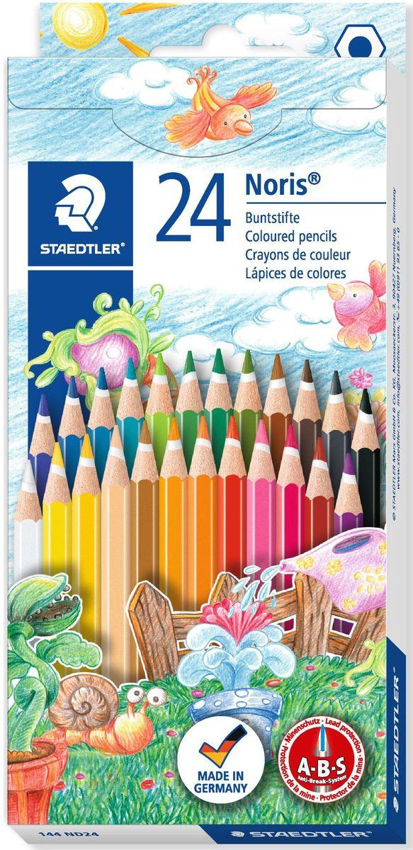 Staedtler Набор цветных карандашей Noris Club 144 ND 24 цвета -  Карандаши