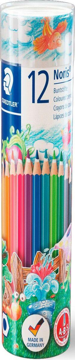 Staedtler Набор цветных карандашей Noris Club 144 NMD 12 цветов144NMD12Набор цветных карандашей Noris Club 144, 12 цветов в металлической коробке.Классическая шестигранная форма.A-B-S - белое защитное покрытие для укрепления грифеля и для защиты от поломки.Очень мягкий и яркий грифель.При производстве используется древесина сертифицированных и специально подготовленных лесов.