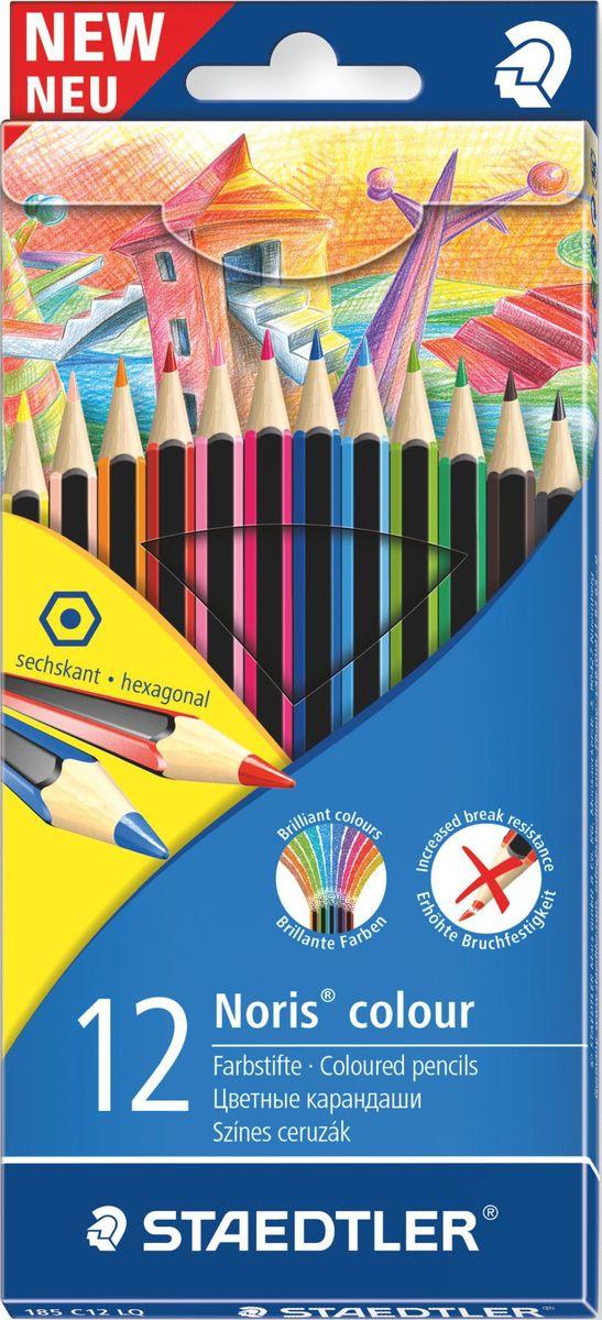 Staedtler Набор цветных карандашей Noris Colour LQ Wopex 12 цветов staedtler staedtler цветные карандаши noris club утолщенные 10 цветов