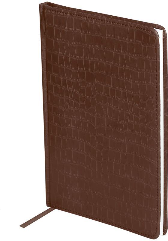OfficeSpace Ежедневник Croco недатированный 160 листов цвет коричневый формат A5 чехол brosco croco для iphone 6 черный с имитацией под крокодиловую кожу