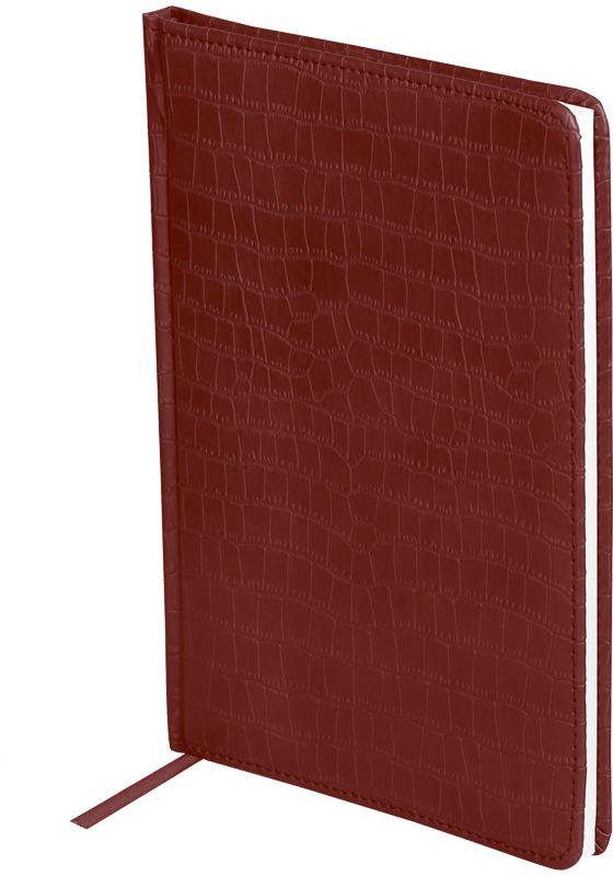 OfficeSpace Ежедневник Croco недатированный 160 листов цвет бордовый формат A5 чехол brosco croco для iphone 6 черный с имитацией под крокодиловую кожу