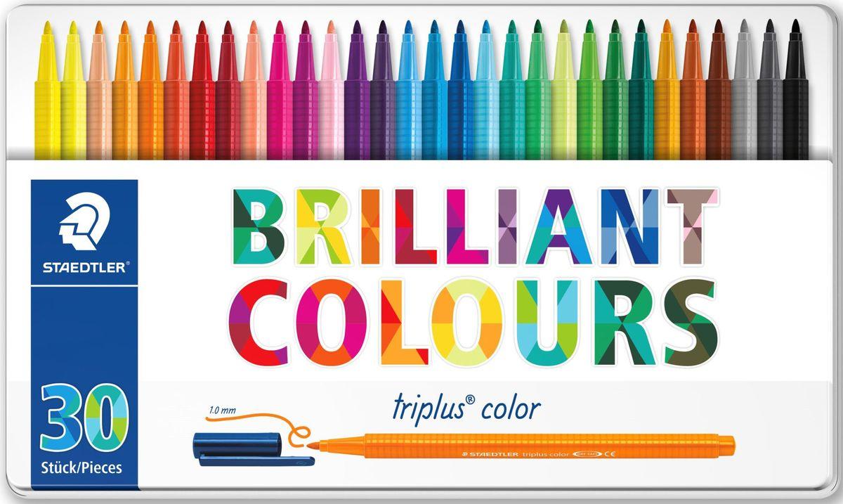 Staedtler Набор фломастеров Triplus 323 Яркие цвета 30 цветов -  Фломастеры