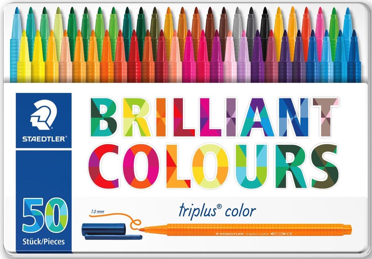 Staedtler Набор фломастеров Triplus 323 Яркие цвета 50 цветов -  Фломастеры