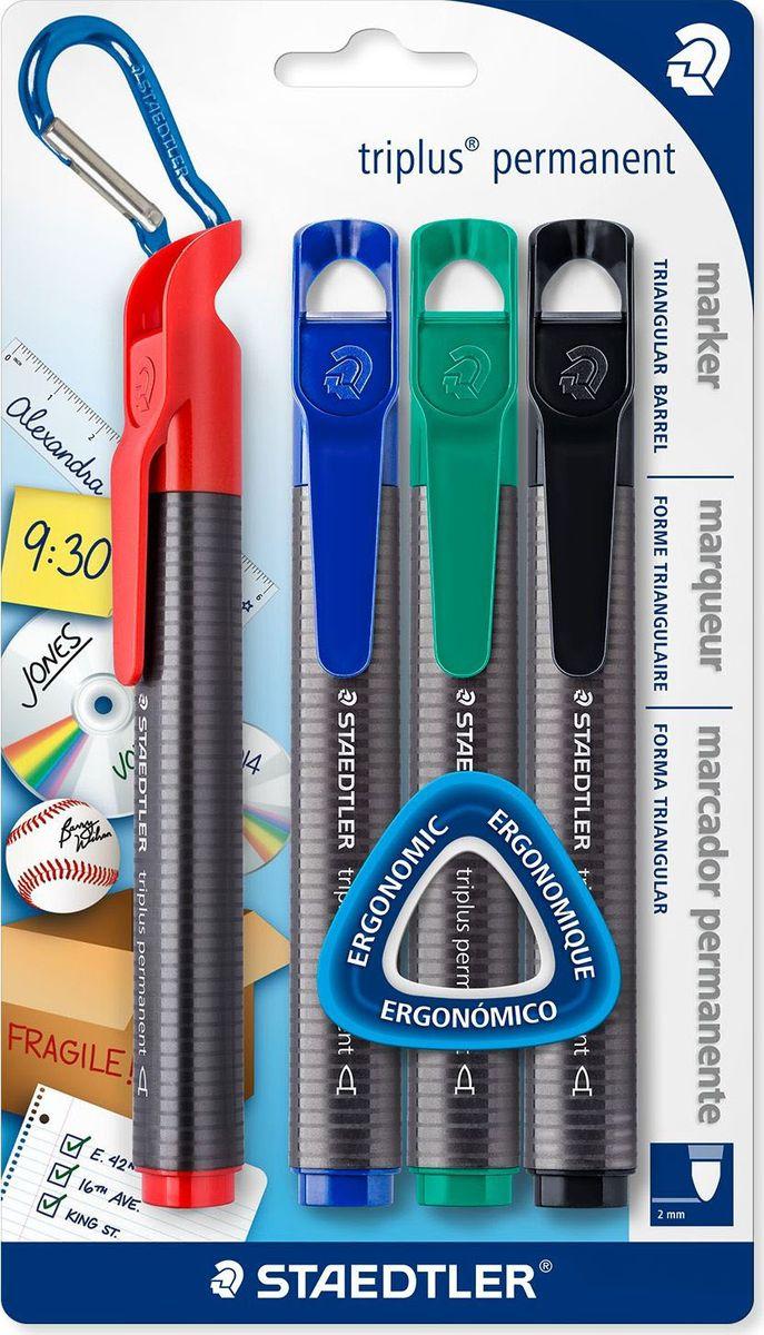 Staedtler Набор перманентных маркеров Triplus 2 мм 4 цвета -  Маркеры