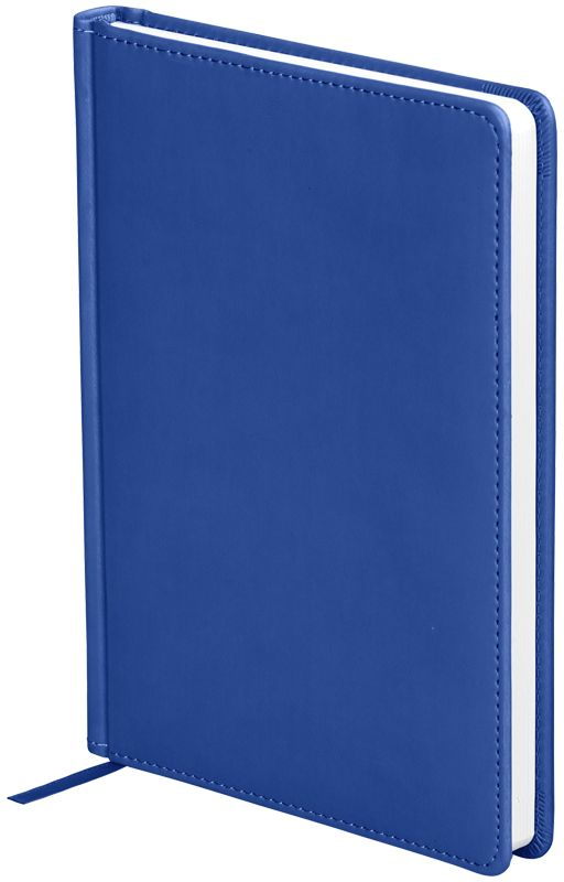 OfficeSpace Ежедневник Winner недатированный 136 листов в линейку цвет синий формат A5En5_12675Ежедневник недатированный формата А5 из коллекции Winner. Обложка изготовлена из высококачественного кожзаменителя с гладкой мягкой матовой поверхностью, с поролоновой прослойкой, цвет обложки - синий. Подходит для всех видов полиграфического тиснения. Внутренний блок состоит из 136 листов офсетной бумаги плотностью 70 г/м2, печать блока в 2 краски, справочный материал. На форзацах географические карты России и Мира. Удобная закладка-ляссе и перфорированные уголки.