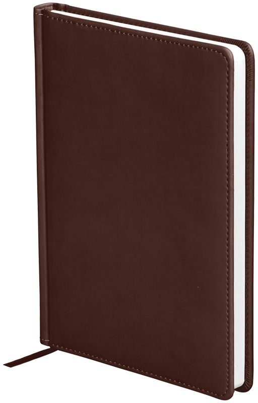 OfficeSpace Ежедневник Winner недатированный 136 листов в линейку цвет коричневый формат A5En5_12679Обложка ежедневника OfficeSpace Winner изготовлена из высококачественного кожзаменителя с гладкой мягкой матовой поверхностью, с поролоновой прослойкой, цвет обложки - коричневый. Подходит для всех видов полиграфического тиснения. Внутренний блок состоит из 136 листов офсетной бумаги плотностью 70 г/м2, печать блока в 2 краски, справочный материал. На форзацах географические карты России и Мира. Удобная закладка-ляссе и перфорированные уголки. Формат A5.