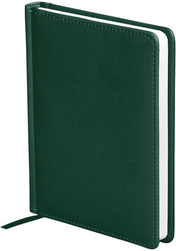 OfficeSpace Ежедневник Winner недатированный 136 листов в линейку цвет зеленый формат A6En6_12727Ежедневник недатированный формата А6 из коллекции Winner. Обложка изготовлена из высококачественного кожзаменителя с гладкой мягкой матовой поверхностью, с поролоновой прослойкой, цвет обложки - зеленый. Подходит для всех видов полиграфического тиснения. Внутренний блок состоит из 136 листов офсетной бумаги плотностью 70 г/м2, печать блока в 2 краски, справочный материал. На форзацах географические карты России и Мира. Удобная закладка-ляссе и перфорированные уголки.