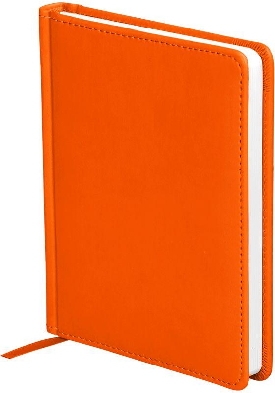 OfficeSpace Ежедневник Winner недатированный 136 листов в линейку цвет оранжевый формат A6En6_12733Ежедневник недатированный формата А6 из коллекции Winner. Обложка изготовлена из высококачественного кожзаменителя с гладкой мягкой матовой поверхностью, с поролоновой прослойкой, цвет обложки - оранжевый. Подходит для всех видов полиграфического тиснения. Внутренний блок состоит из 136 листов офсетной бумаги плотностью 70 г/м2, печать блока в 2 краски, справочный материал. На форзацах географические карты России и Мира. Удобная закладка-ляссе и перфорированные уголки.