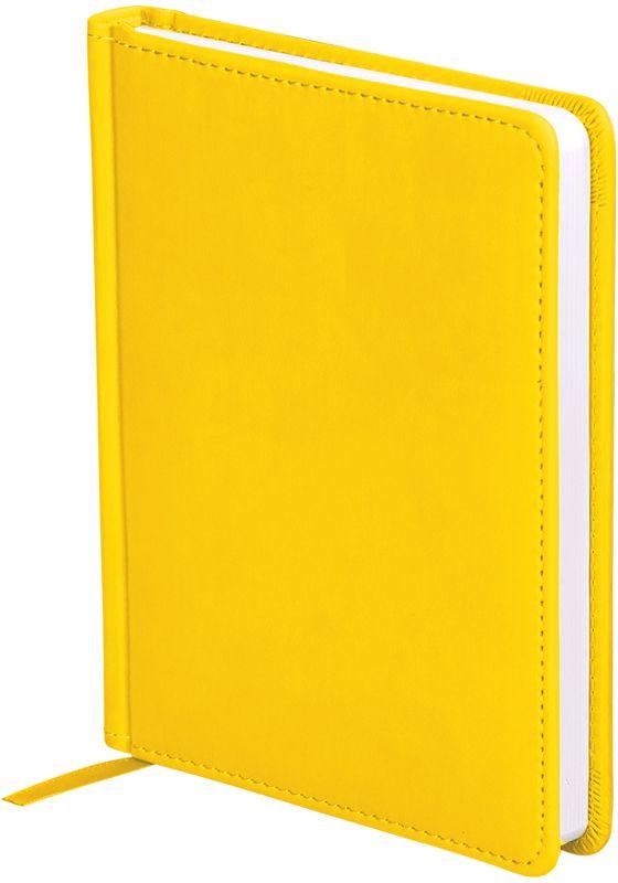 OfficeSpace Ежедневник Winner недатированный 136 листов в линейку цвет желтый формат A6En6_12737Ежедневник недатированный формата А6 из коллекции Winner. Обложка изготовлена из высококачественного кожзаменителя с гладкой мягкой матовой поверхностью, с поролоновой прослойкой, цвет обложки - желтый. Подходит для всех видов полиграфического тиснения. Внутренний блок состоит из 136 листов офсетной бумаги плотностью 70 г/м2, печать блока в 2 краски, справочный материал. На форзацах географические карты России и Мира. Удобная закладка-ляссе и перфорированные уголки.