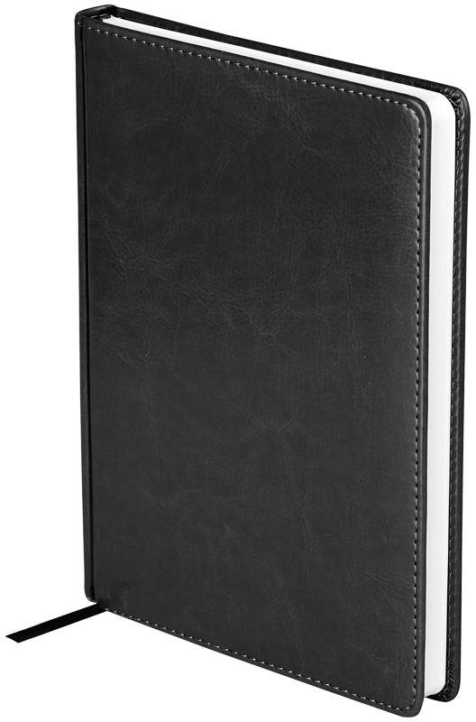OfficeSpace Ежедневник Nebraska недатированный 136 листов в линейку цвет черный формат A5En5_12821Ежедневник недатированный формата А5 из коллекции OfficeSpace Nebraska. Обложка изготовлена из высококачественного кожзаменителя, имитирующего натуральную глянцевую кожу, с поролоновой прослойкой. Подходит для всех видов полиграфического тиснения. Внутренний блок состоит из 136 листов офсетной бумаги плотностью 70 г/м2, печать блока в 2 краски, справочный материал. На форзацах географические карты России и Мира. Удобная закладка-ляссе и перфорированные уголки.