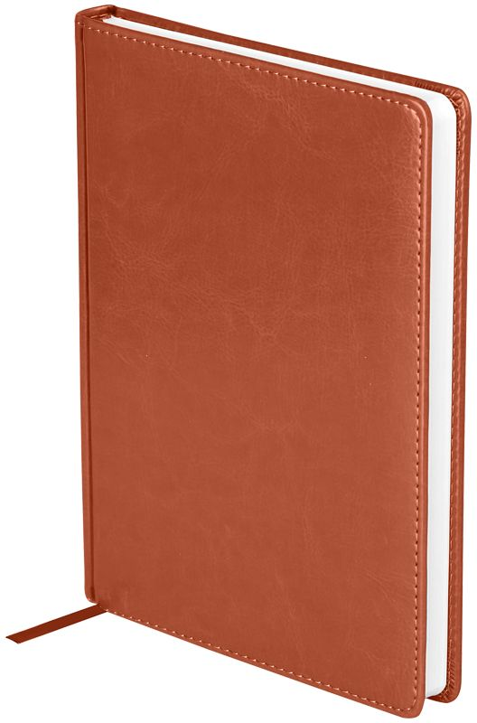 OfficeSpace Ежедневник Nebraska недатированный 136 листов в линейку цвет коричневый формат A5En5_12823Недатированный ежедневник OfficeSpace Nebraska имеет обложку, изготовленную из высококачественного кожзаменителя, имитирующего натуральную глянцевую кожу, с поролоновой прослойкой, цвет обложки - коричневый. Подходит для всех видов полиграфического тиснения. Внутренний блок состоит из 136 листов офсетной бумаги плотностью 70 г/м2, печать блока в 2 краски, справочный материал. На форзацах географические карты России и Мира. Удобная закладка-ляссе и перфорированные уголки.Формат A5.