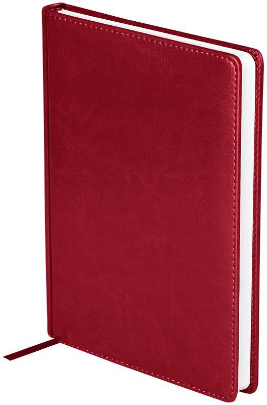 OfficeSpace Ежедневник Nebraska недатированный 136 листов в линейку цвет бордовый формат A5 -