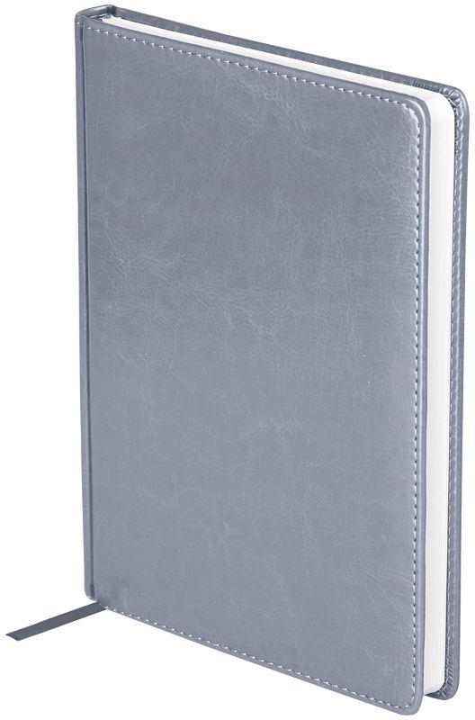 OfficeSpace Ежедневник Nebraska недатированный 136 листов в линейку цвет серый формат A5En5_12831Ежедневник недатированный формата А5 из коллекции OfficeSpace Nebraska. Обложка изготовлена из высококачественного кожзаменителя, имитирующего натуральную глянцевую кожу, с поролоновой прослойкой. Подходит для всех видов полиграфического тиснения. Внутренний блок состоит из 136 листов офсетной бумаги плотностью 70 г/м2, печать блока в 2 краски, справочный материал. На форзацах географические карты России и Мира. Удобная закладка-ляссе и перфорированные уголки.