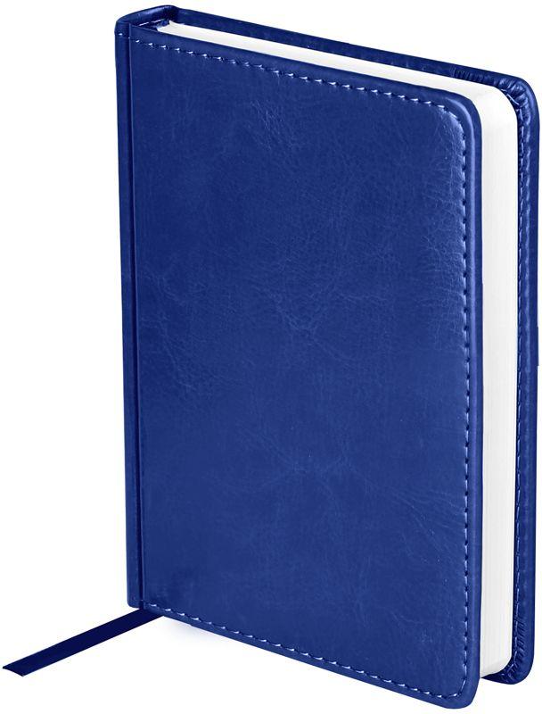 OfficeSpace Ежедневник Nebraska недатированный 136 листов в линейку цвет синий формат A6En6_12835Недатированный ежедневник OfficeSpace Nebraska имеет обложку, изготовленную из высококачественного кожзаменителя, имитирующего натуральную глянцевую кожу, с поролоновой прослойкой, цвет обложки - синий. Подходит для всех видов полиграфического тиснения. Внутренний блок состоит из 136 листов офсетной бумаги плотностью 70 г/м2, печать блока в 2 краски, справочный материал. На форзацах географические карты России и Мира. Удобная закладка-ляссе и перфорированные уголки.Формат A6.