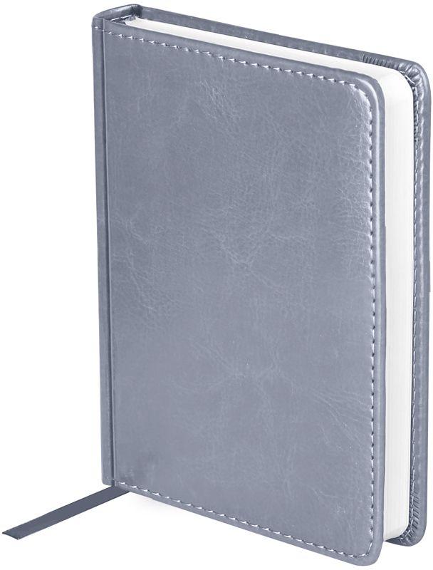 OfficeSpace Ежедневник Nebraska недатированный 136 листов в линейку цвет серый формат A6En6_12847Ежедневник недатированный формата А6 из коллекции Nebraska. Обложка изготовлена из высококачественного кожзаменителя, имитирующего натуральную глянцевую кожу, с поролоновой прослойкой, цвет обложки - серый. Подходит для всех видов полиграфического тиснения. Внутренний блок состоит из 136 листов офсетной бумаги плотностью 70 г/м2, печать блока в 2 краски, справочный материал. На форзацах географические карты России и Мира. Удобная закладка-ляссе и перфорированные уголки.