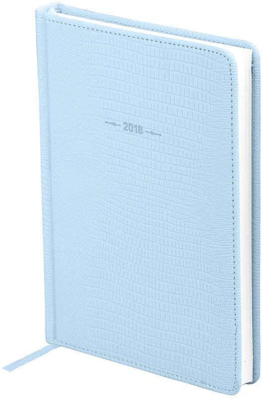 OfficeSpace Ежедневник Reptile 2018 датированный 176 листов в линейку цвет голубой формат A5 -