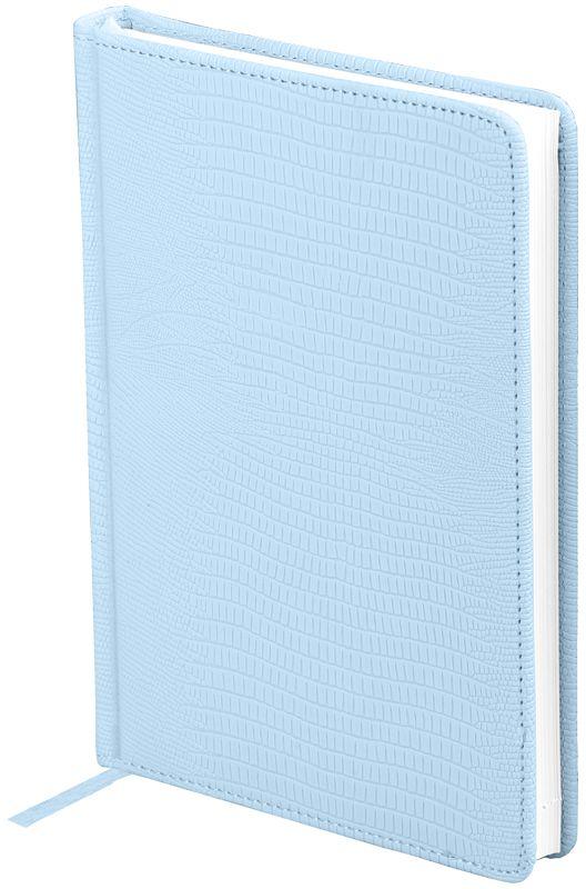 OfficeSpace Ежедневник Reptile недатированный 160 листов в линейку цвет голубой формат A5En5_12605Ежедневник недатированный формата А5 из коллекции Reptile. Обложка изготовлена из высококачественного кожзаменителя, имитирующего глянцевую змеиную кожу, с поролоновой прослойкой, цвет обложки - голубой. Подходит для всех видов полиграфического тиснения. Внутренний блок состоит из 160 листов офсетной бумаги плотностью 70 г/м2, печать блока в 2 краски, справочный материал. На форзацах географические карты России и Мира. Удобная закладка-ляссе и перфорированные уголки.