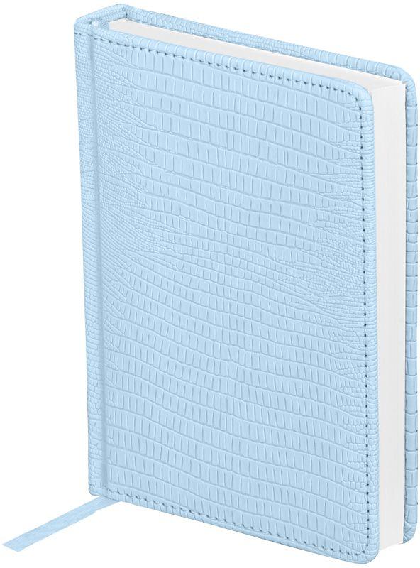 OfficeSpace Ежедневник Reptile недатированный 160 листов в линейку цвет голубой формат A6En6_12615Ежедневник недатированный формата А6 из коллекции Reptile. Обложка изготовлена из высококачественного кожзаменителя, имитирующего глянцевую змеиную кожу, с поролоновой прослойкой, цвет обложки - голубой. Подходит для всех видов полиграфического тиснения. Внутренний блок состоит из 160 листов офсетной бумаги плотностью 70 г/м2, печать блока в 2 краски, справочный материал. На форзацах географические карты России и Мира. Удобная закладка-ляссе и перфорированные уголки.