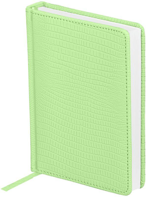 OfficeSpace Ежедневник Reptile недатированный 160 листов в линейку цвет салатовый формат A6En6_12619Ежедневник OfficeSpace Reptile недатированный, имеет изготовленную из высококачественного кожзаменителя обложку, имитирующего глянцевую змеиную кожу, с поролоновой прослойкой, цвет обложки - салатовый. Подходит для всех видов полиграфического тиснения. Внутренний блок состоит из 160 листов офсетной бумаги плотностью 70 г/м2, печать блока в 2 краски, справочный материал. На форзацах географические карты России и Мира. Удобная закладка-ляссе и перфорированные уголки.Формат A6.