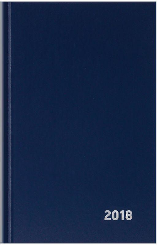 OfficeSpace Ежедневник 2018 датированный 168 листов цвет синийЕД5тБВ_15047Ежедневник OfficeSpace - незаменимый помощник для планирования встреч, звонков, переговоров. Отличный бизнес-аксессуар. Обложка - твердый картон, материал - бумвинил синего цвета с тиснением серебряной фольгой. Удобный и компактный формат - А5. Прошитый переплет надежно держит блок. Блок 168 листов в линейку. Плотность - 60 г/м2.