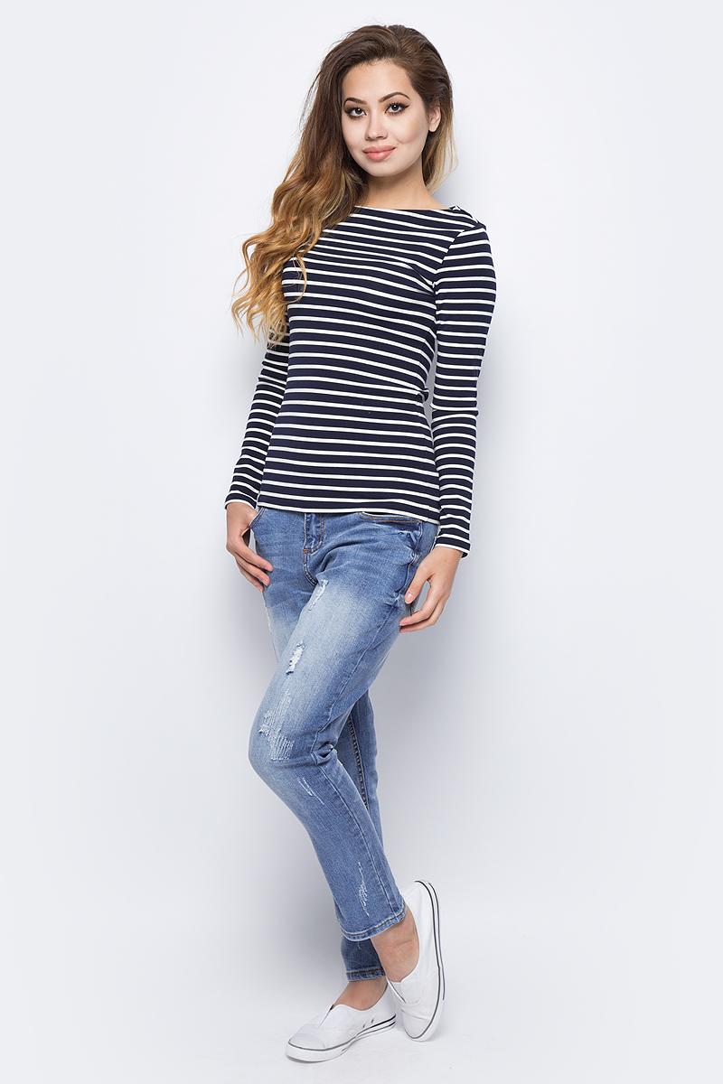 Джинсы женские Sela, цвет: синий джинс. PJ-135/042-7361. Размер 32-32 (48/50--32)PJ-135/042-7361Женские джинсы от Sela выполнены из эластичного хлопка. Модель силуэта Boyfriend имеет пятикарманный крой: спереди – два втачных кармана и один маленький кармашек, сзади – два накладных кармана. Джинсы в поясе застегиваются на пуговицу, имеют ширинку на застежке-молнии и шлевки для ремня, оформлены декоративными потертостями.