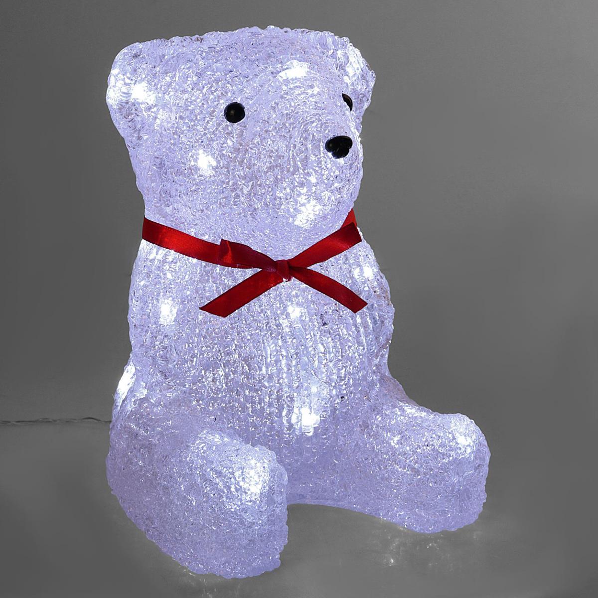 Фигурка новогодняя Luazon Медвежонок, 15 х 15 х 21 см2310851Акриловые фигуры являются оригинальным новогодним украшением. Кажется, будто скульптуры вырезаны изо льда. В темноте они будут мерцать огоньками светодиодов. Такие лампочки не нагреваются, благодаря чему их использование пожаробезопасно.Создайте праздничное настроение даже на рабочем месте. Небольшие по размеру фигурки работают от батареек, и вы можете поставить их на стол.