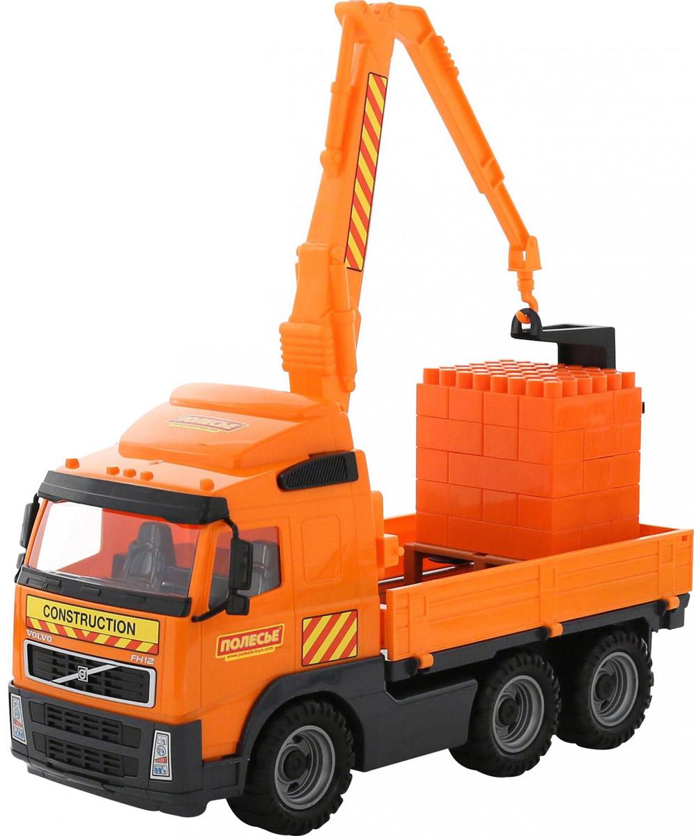 Полесье Грузовик с манипулятором Volvo + конструктор Супер-Микс б у грузовик с манипулятором в кра