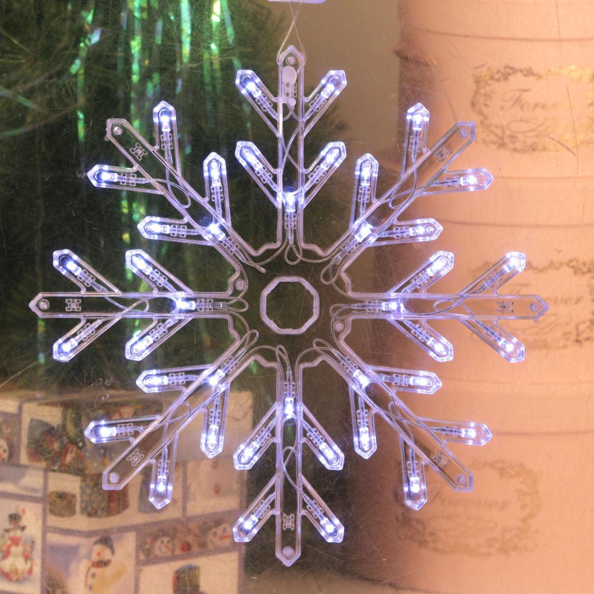 Фигурка новогодняя Luazon Снежинка, диаметр 30 см книжки картонки росмэн волшебная снежинка новогодняя книга