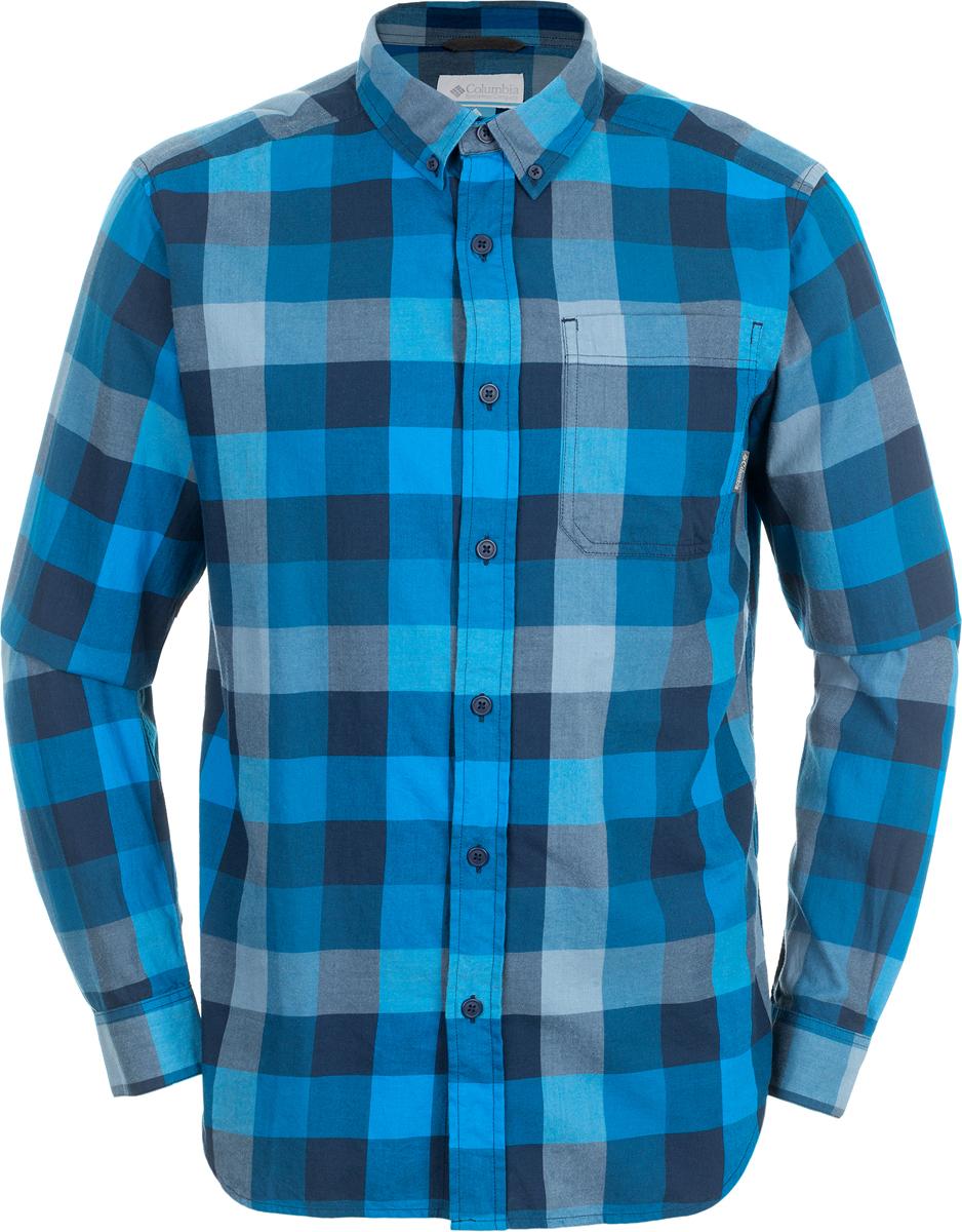 Рубашка мужская Columbia Out And Back Ii, цвет: темно-синий. 1552061-464. Размер L (48/50)1552061-464Мужская рубашка Out And Back Ii от Columbia с длинным рукавом - отличное дополнение гардероба как для повседневного использования, так и для активного отдыха. Модель прямого кроя, имеется нагрудный накладной карман. Изделие выполнено из хлопкового материала с клетчатым принтом.