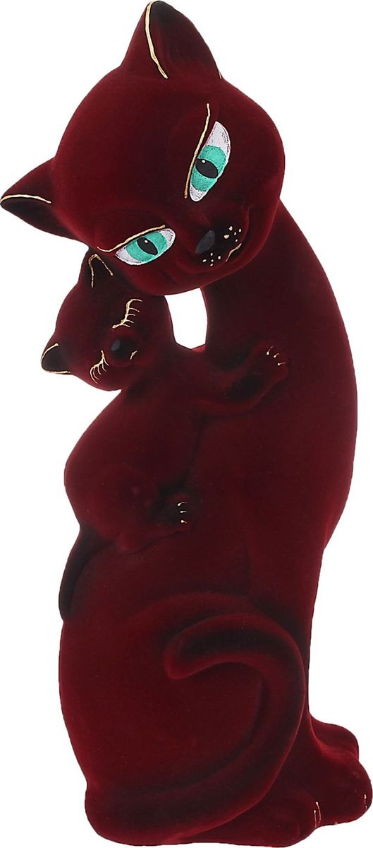 Копилка Керамика ручной работы Кошка Саманта с котенком, цвет: бордовый, 10 х 16 х 47 см1062677Помните, как порой бывают необходимы не очень большие средства на какое-то нужное и важное дело, но они отсутствуют? Забудьте. В тот момент у вас не было копилки, которая помогла бы в сбережении денег. Изделие в виде котов поспособствует изгнанию злых духов из дома и защищает от сглаза. Кот символизирует домашний уют, тепло семейных отношений, психологический и эмоциональный комфорт.Обращаем ваше внимание, что копилка является одноразовой.