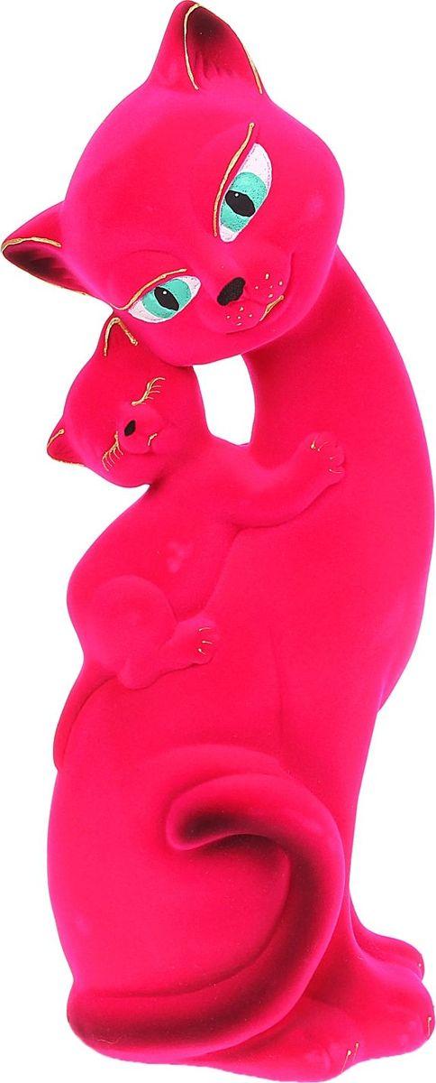 Копилка Керамика ручной работы Кошка Саманта с котенком, 9 х 15 х 45 см1067596Помните, как порой бывают необходимы не очень большие средства на какое-то нужное и важное дело, но они отсутствуют? Забудьте. В тот момент у вас не было копилки, которая помогла бы в сбережении денег. Изделие в виде котов поспособствует изгнанию злых духов из дома и защищает от сглаза. Кот символизирует домашний уют, тепло семейных отношений, психологический и эмоциональный комфорт.