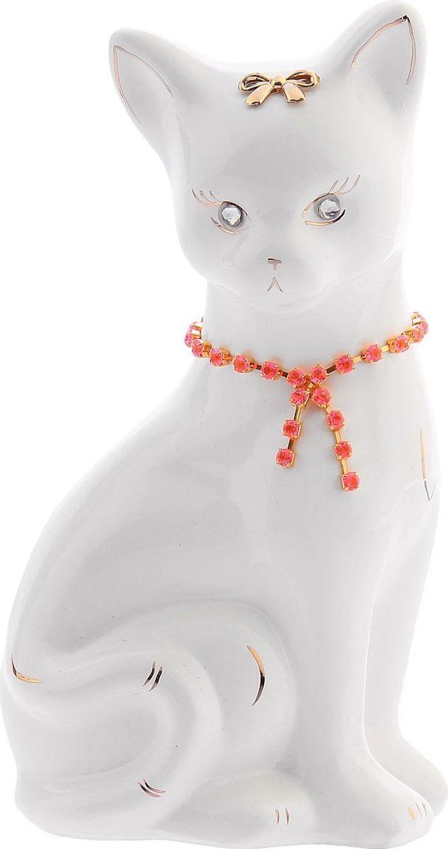 Копилка Керамика ручной работы Кошка Лиза, 11 х 8 х 20 см1148322Женщины любят баловать себя покупками для красоты и здоровья. С помощью такой копилки можно незаметно приблизиться к приобретению желаемого. Образ кошки всегда олицетворял привлекательность и символизировал домашнее спокойствие. Поставьте изделие возле предметов роскоши, и оно будет способствовать их преумножению.