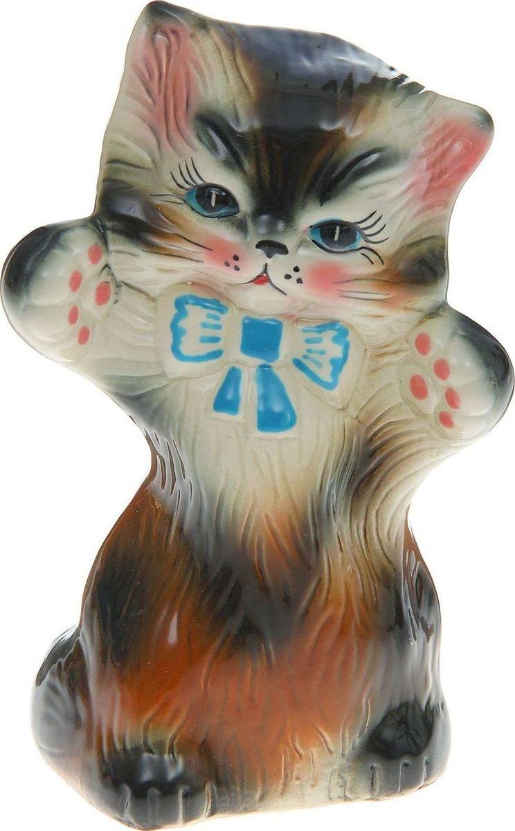 Копилка Керамика ручной работы Кошка Жози, 8 х 14 х 20 см1164869Женщины любят баловать себя покупками для красоты и здоровья. С помощью такой копилки можно незаметно приблизиться к приобретению желаемого. Образ кошки всегда олицетворял привлекательность и символизировал домашнее спокойствие. Поставьте изделие возле предметов роскоши, и оно будет способствовать их преумножению.