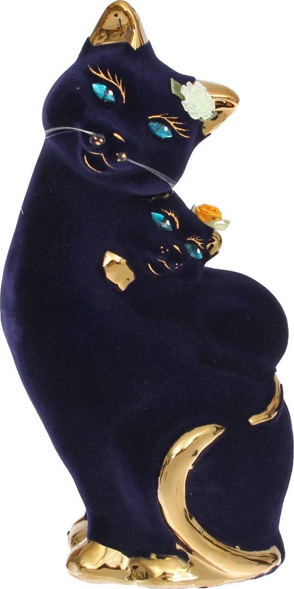 Копилка Керамика ручной работы Кошка с котенком, 12 х 9 х 30 см1168439Помните, как порой бывают необходимы не очень большие средства на какое-то нужное и важное дело, но они отсутствуют? Забудьте. В тот момент у вас не было копилки, которая помогла бы в сбережении денег. Изделие в виде котов поспособствует изгнанию злых духов из дома и защищает от сглаза. Кот символизирует домашний уют, тепло семейных отношений, психологический и эмоциональный комфорт.