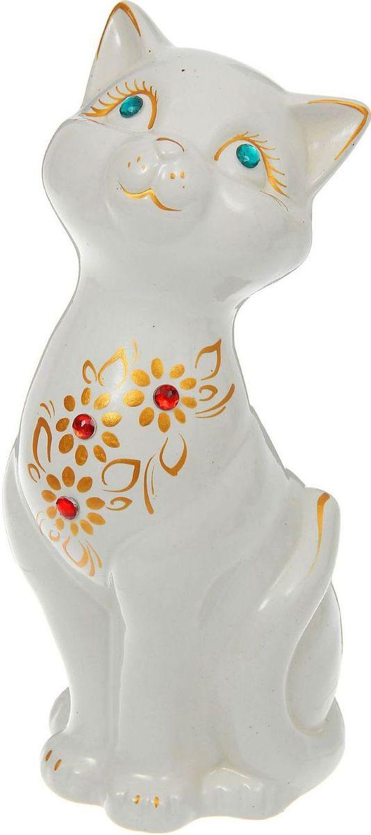 Копилка Керамика ручной работы Кошка Лола, цвет: белый, 10 х 9 х 25 см1186309Женщины любят баловать себя покупками для красоты и здоровья. С помощью такой копилки можно незаметно приблизиться к приобретению желаемого. Образ кошки всегда олицетворял привлекательность и символизировал домашнее спокойствие. Поставьте изделие возле предметов роскоши, и оно будет способствовать их преумножению.Обращаем ваше внимание, что копилка является одноразовой.