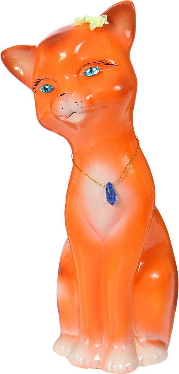 Копилка Керамика ручной работы Кошка Лиза, 12 х 10 х 29 см1415214Женщины любят баловать себя покупками для красоты и здоровья. С помощью такой копилки можно незаметно приблизиться к приобретению желаемого. Образ кошки всегда олицетворял привлекательность и символизировал домашнее спокойствие. Поставьте изделие возле предметов роскоши, и оно будет способствовать их преумножению.