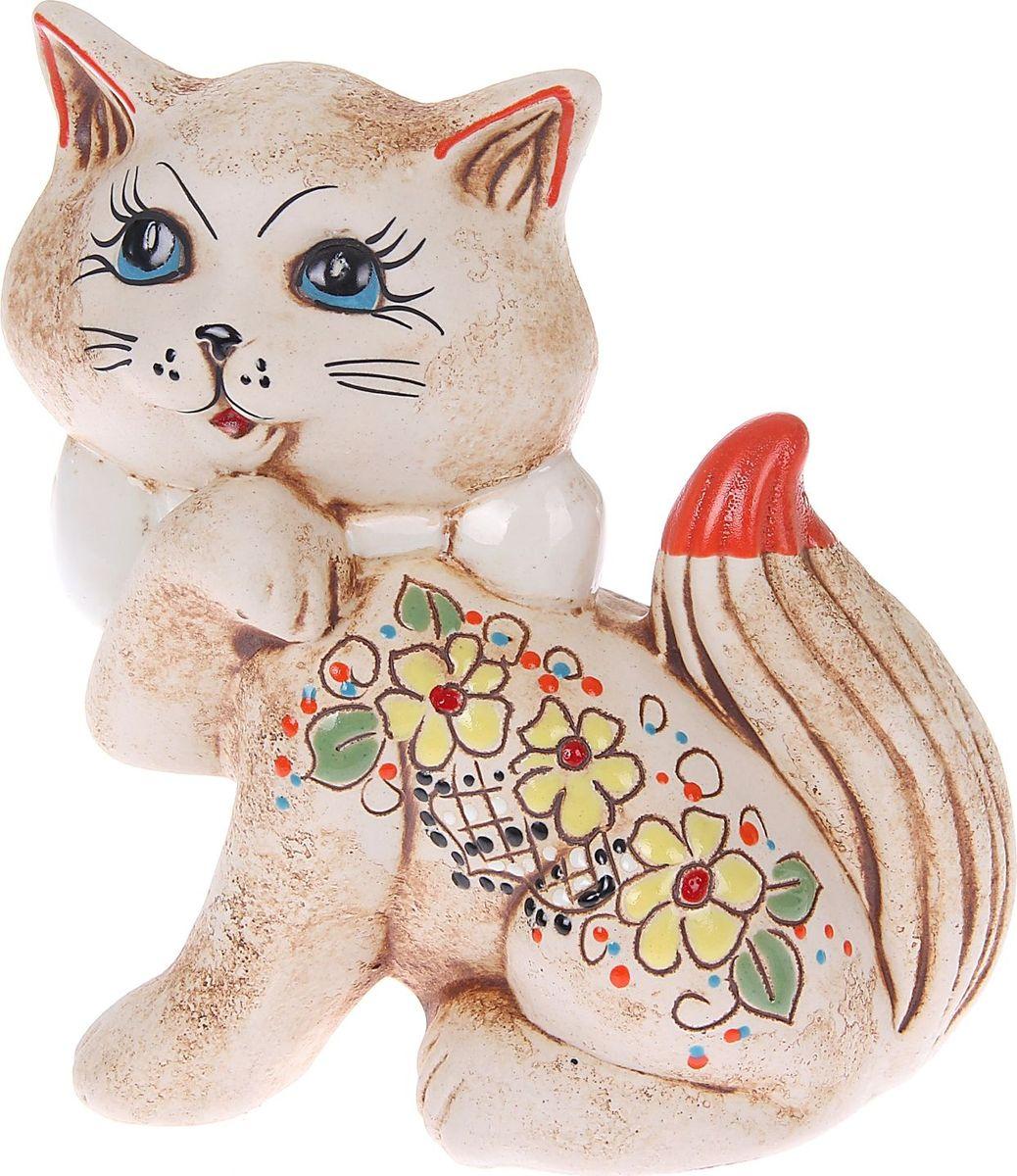 Копилка Керамика ручной работы Кошка Милка, 16 х 10 х 20 см165905Женщины любят баловать себя покупками для красоты и здоровья. С помощью такой копилки можно незаметно приблизиться к приобретению желаемого. Образ кошки всегда олицетворял привлекательность и символизировал домашнее спокойствие. Поставьте изделие возле предметов роскоши, и оно будет способствовать их преумножению.Обращаем ваше внимание, что копилка является одноразовой.