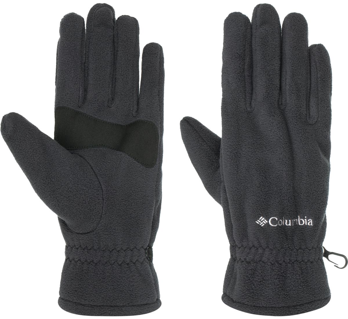 Перчатки мужские Columbia Thermarator Glove, цвет: черный. 1555851-010. Размер XL (10/11)1555851-010Флисовые перчатки идеально подойдут для активного отдыха в холодное время года. Уникальная технология Omni-Heat сохраняет собственное тепло человека, отражая его с помощью серебристых точек, а излишняя влага отводится наружу. Текстурированное укрепление ладони и пальцев в местах наибольшего трения защищают перчатки от истирания.