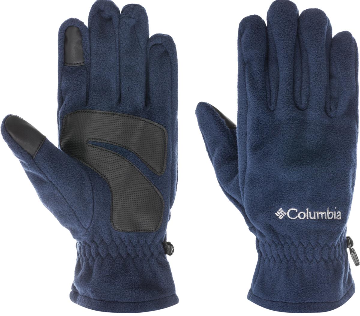 Перчатки жен Columbia W Thermarator Glove Gloves, цвет: синий. 1555861-489. Размер L (9)1555861-489Женские перчатки Columbia W Thermarator Glove предназначены для занятий активными видами спорта и для носки в городе в холодную погоду.Изделие выполнено из мягкого, высококачественного материала, запястья дополнены эластичной резинкой для наилучшего прилегания и защиты от продувания. Текстурированное укрепление ладони и пальцев в местах наибольшего трения защищают перчатки от стирания. Изнаночная сторона перчаток выполнена по уникальной технологии Omni-Heat, за счет серебристых точек отражает собственное тепло, а также способствует отведению влаги от тела.