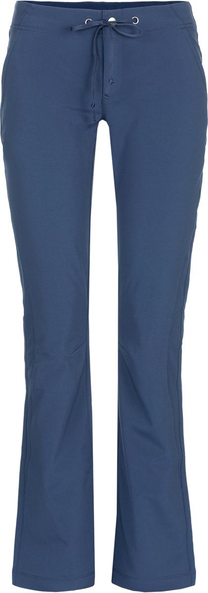 Брюки спортивные женские Columbia Anytime Outdoor Midweight Boot Cut W, цвет: темно-синий. 1556851-591. Размер 4 (44)1556851-591Спортивные женские брюки из высококачественного полиэстера станут отличным выбором как для походов, так и прогулок по городу. Модель выполнена из материала с покрытием Omni-Shield, которое надежно защищает ткань от грязи и влаги. Входящий в состав эластан обеспечивает комфортную посадку и свободу движений. Пояс регулируется с помощью кулиски.