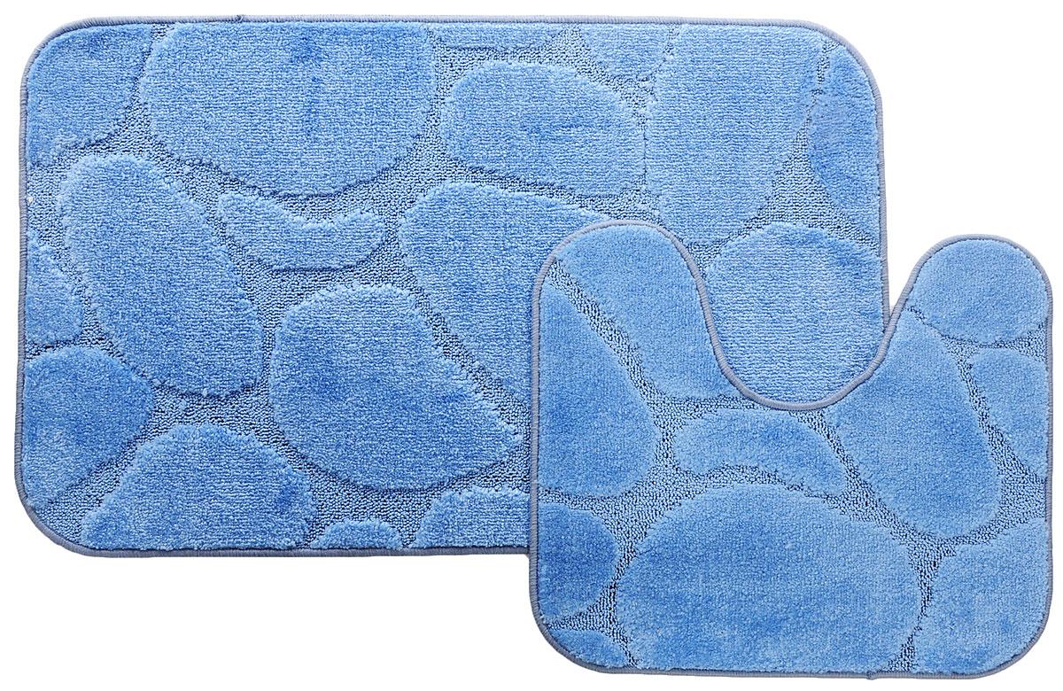 Набор ковриков для ванной MAC Carpet Рома. Камни, цвет: темно-голубой, 60 х 100 см, 50 х 60 см, 2 шт21826Набор MAC Carpet Рома. Камни, выполненный из полипропилена, состоит из двухковриков дляванной комнаты, один из которых имеет вырез под унитаз. Противоскользящее основаниеизготовлено из термопластичной резины. Коврики мягкие и приятные на ощупь, отличновпитываютвлагу и быстро сохнут.Высокая износостойкость ковриков и стойкость цвета позволит вам наслаждаться покупкойдолгие годы.Можно стирать вручную или в стиральной машине на деликатном режиме при температуре30°С.