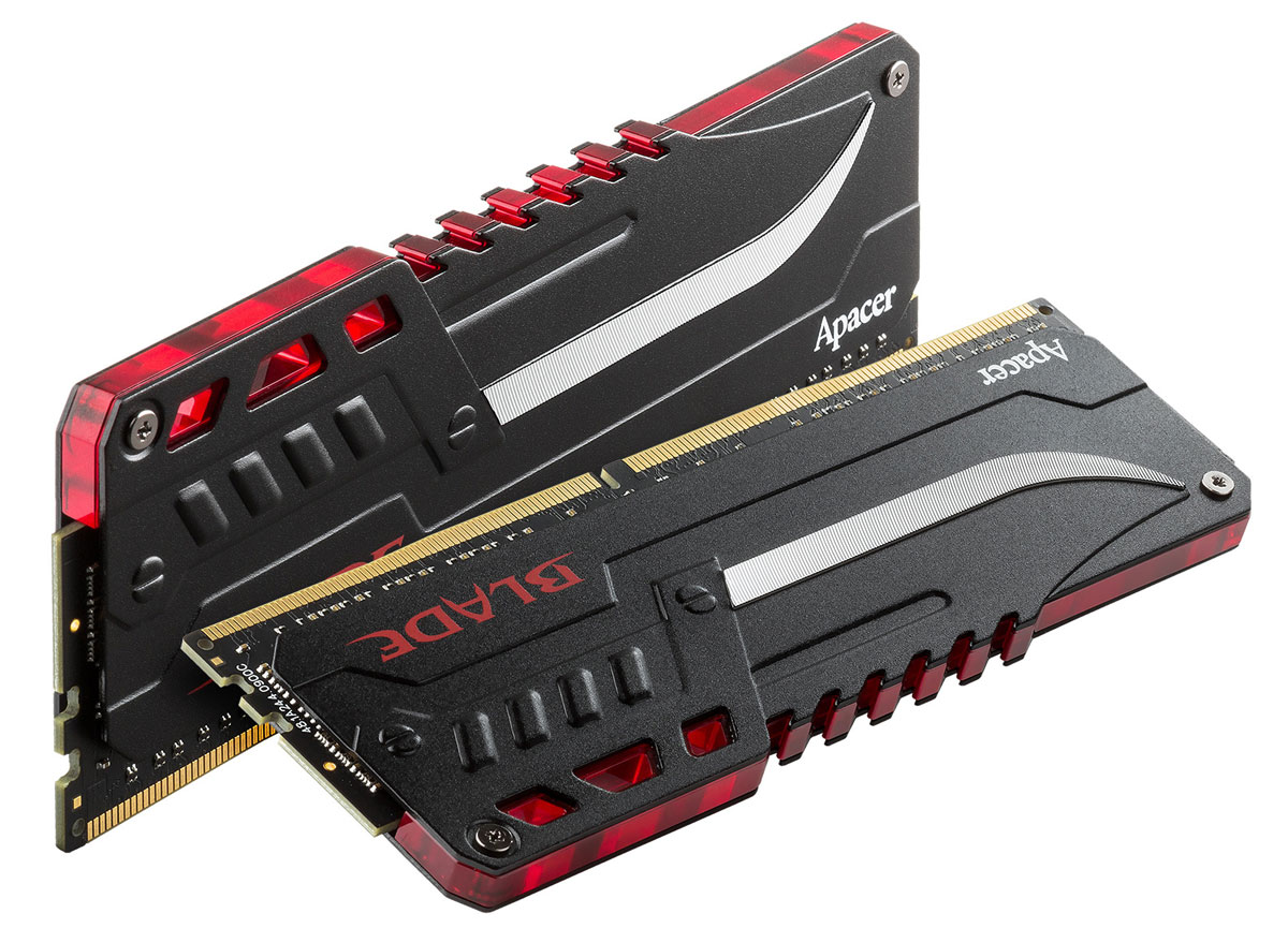 Apacer Blade Fire LED DDR4 2x8Gb 3200 МГц комплект модулей оперативной памяти (EK.16GA1.GEDK2)