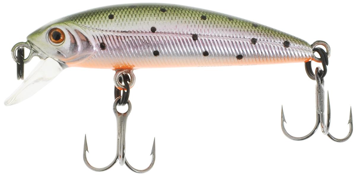 Воблер Tsuribito Minnow 35F, №055, длина 35 мм, вес 1,3 г. 7055670556Плавающий воблер Tsuribito Minnow 35F предназначен для ловли хищных видов рыб. Выполнен с большой ответственностью и деталировкой в ярких цветах. У воблера почти крэнковая отчетливость движений. Один нюанс, на который следует обратить внимание - это маленькие тройники Owner. Физиология рыб очень важна - в зависимости от размера и формы рта, строения челюстей, рыбы по-разному будут контактировать с тройниками. Любители ультралайта будут в восторге от Tsuribito Minnow 35. Заглубление: 0-0,3 м. Тип: плавающий.